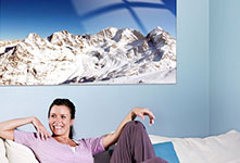 The Alps-example for panorama on canvas in living space