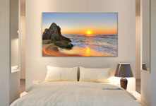 panoramic canvas print example sunset at beach