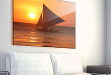 Sailing boat example acrylic photo