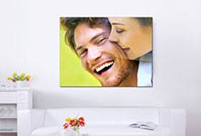 living space acrylic print example couple laugh