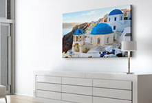 big canvas print_town by the sea