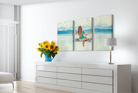 3 panel canvas prints custom room small