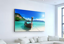 photo on canvas in living room_example photo oh the South Seas