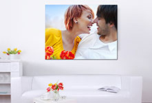 canvas print in living space