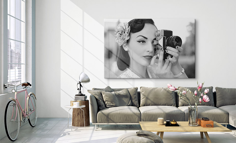 black and white canvas prints apartment