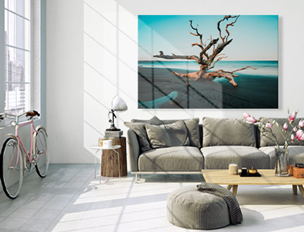 canvas flowers living room