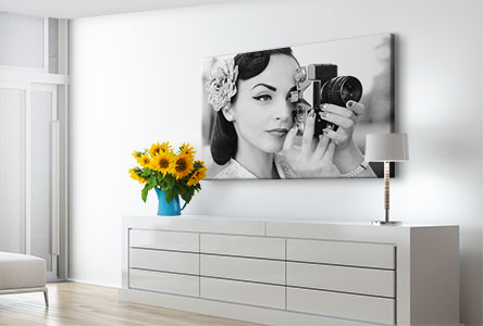 canvas print example photographer in black and white