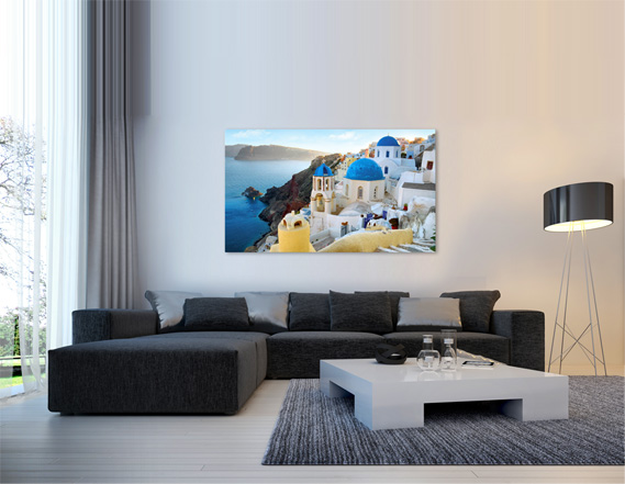 canvas print in living room view 1