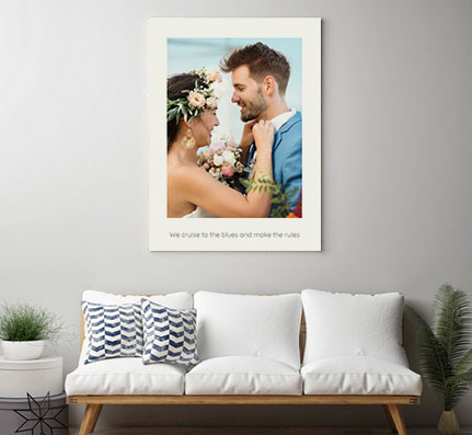 canvas print with text appartment