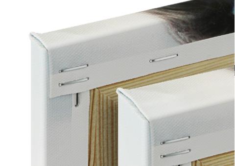 canvas print wooden frame details view