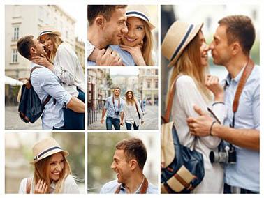 collage canvas love slider