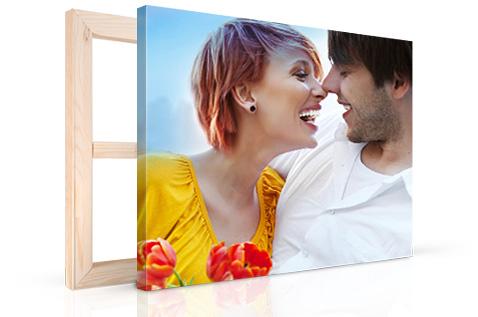couple photo on canvas print variation 1