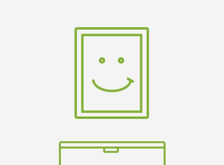 hang photo print icon done