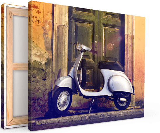Canvas print example with scooter
