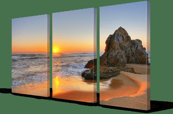 split canvas print 3 panels
