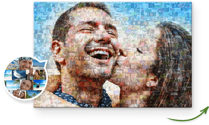 Photo Mosaic on Canvas | With Free Preview