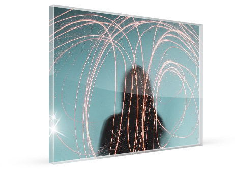 office artwork canvas acrylic glass view