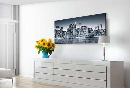 panoramic canvas photo example city skyline