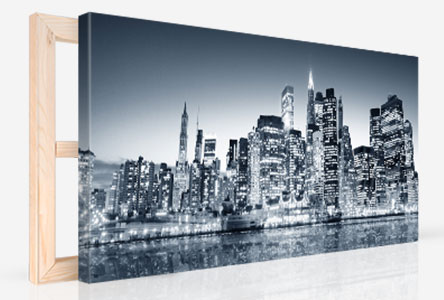 canvas print perspective panorama city