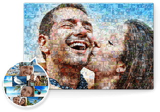 personalised canvas print mosaic top