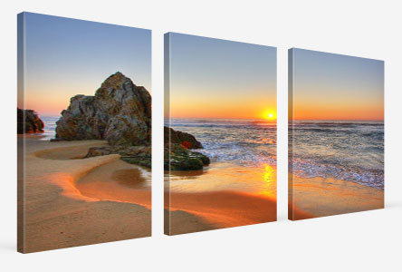 perspective multi panels beach sunset