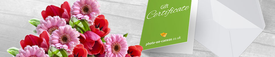 photo on canvas gift certificate