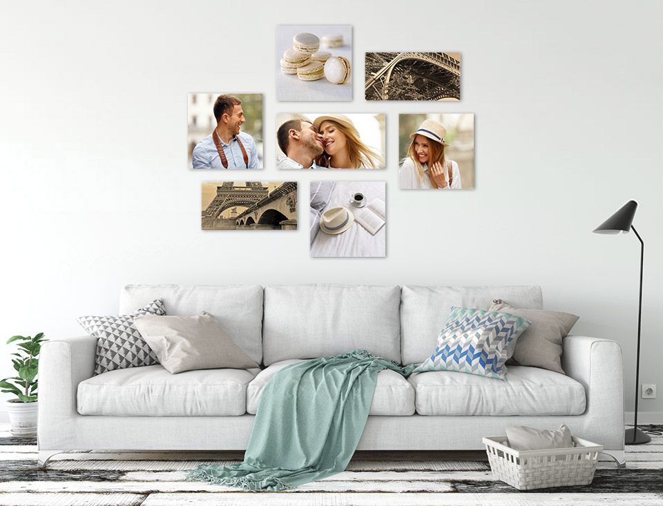 photo wall collage room