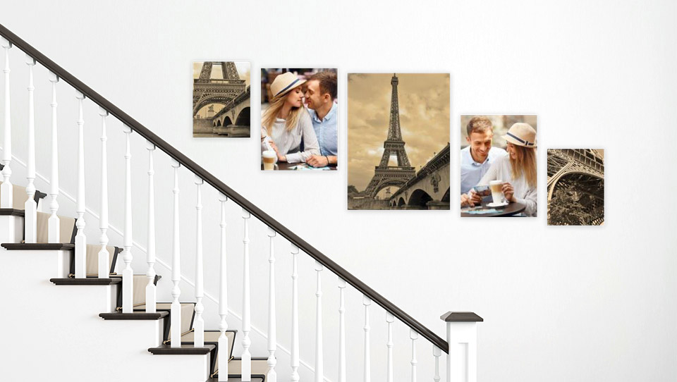 picture wall stairs room